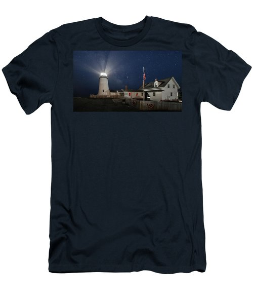 Pemaquid Point Light Flare Men's T-Shirt (Athletic Fit)