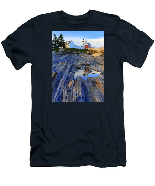 Pemaquid Point Light Reflections Men's T-Shirt (Athletic Fit)