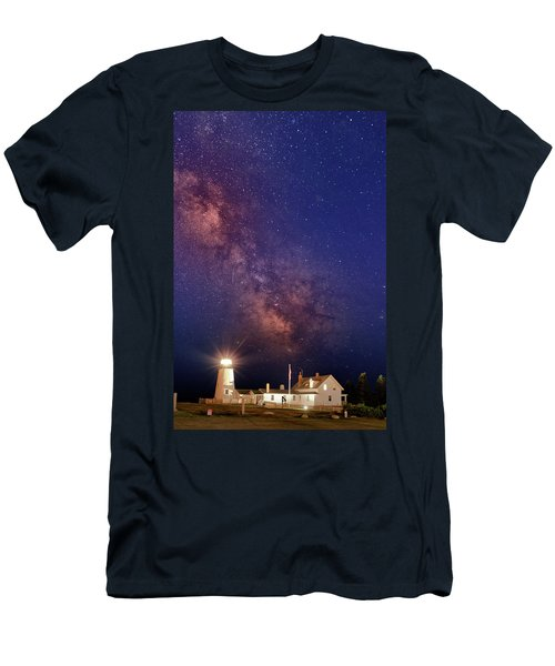 Pemaquid Point Lighthouse And The Milky Way Men's T-Shirt (Athletic Fit)