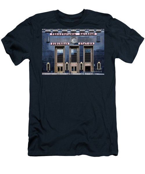 Pennsylvania Railroad Suburban Station Men's T-Shirt (Athletic Fit)