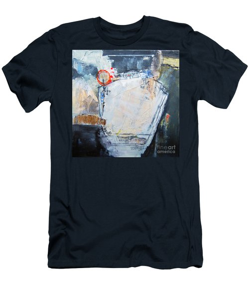 Men's T-Shirt (Slim Fit) featuring the painting Pentagraphic by Ron Stephens