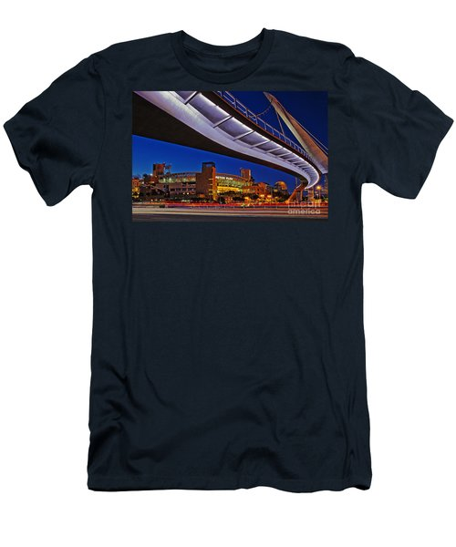 Petco Park And The Harbor Drive Pedestrian Bridge In Downtown San Diego  Men's T-Shirt (Slim Fit) by Sam Antonio Photography