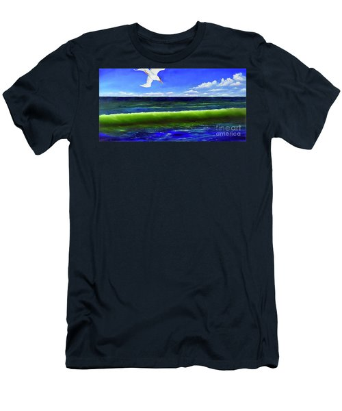 Men's T-Shirt (Athletic Fit) featuring the painting Photobomb by Mary Scott