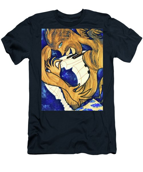 Piano And Angel Men's T-Shirt (Athletic Fit)