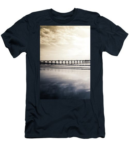Men's T-Shirt (Athletic Fit) featuring the photograph Pier On Duotone by Michael Hope