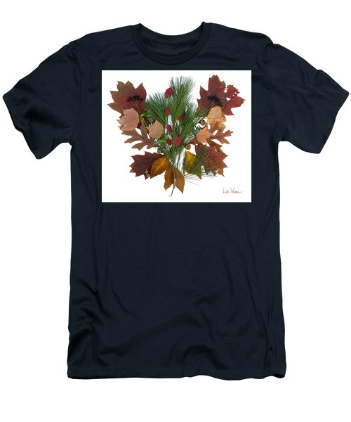 Pine And Leaf Bouquet Men's T-Shirt (Slim Fit) by Lise Winne