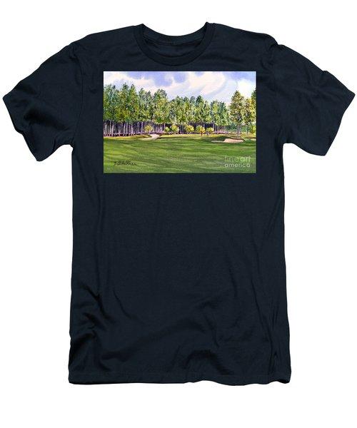 Pinehurst Golf Course 17th Hole Men's T-Shirt (Slim Fit) by Bill Holkham