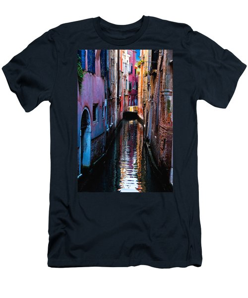 Pink Canal Men's T-Shirt (Slim Fit) by Harry Spitz