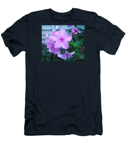 Pink Flowers In The Garden Men's T-Shirt (Athletic Fit)