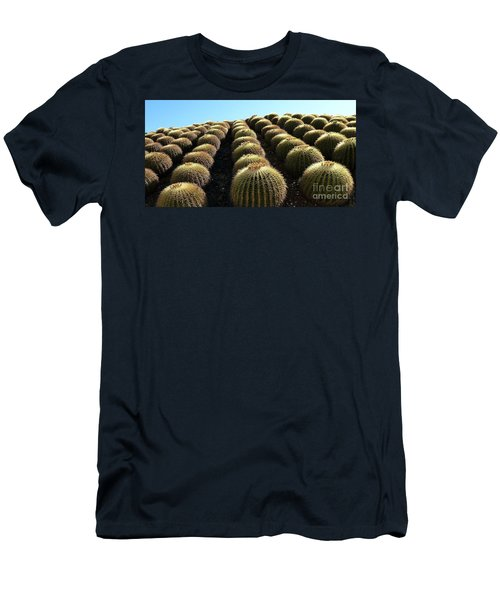 Men's T-Shirt (Slim Fit) featuring the photograph Planet Of Cactus by Anna  Duyunova