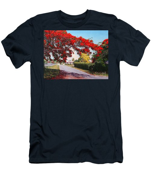 Poinciana Shadows Men's T-Shirt (Athletic Fit)