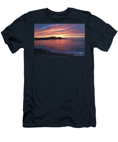 Point Lobos Red Sunset Men's T-Shirt (Athletic Fit)