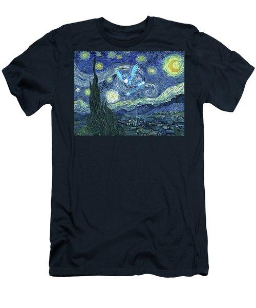 Men's T-Shirt (Slim Fit) featuring the digital art Pokevangogh Starry Night by Greg Sharpe