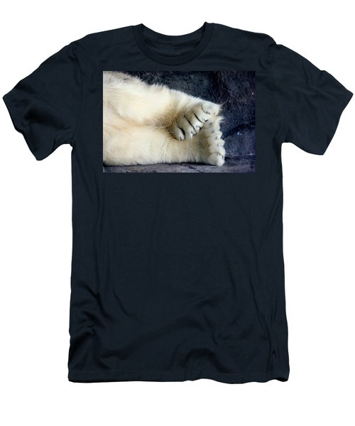 Polar Bear Paws Men's T-Shirt (Athletic Fit)