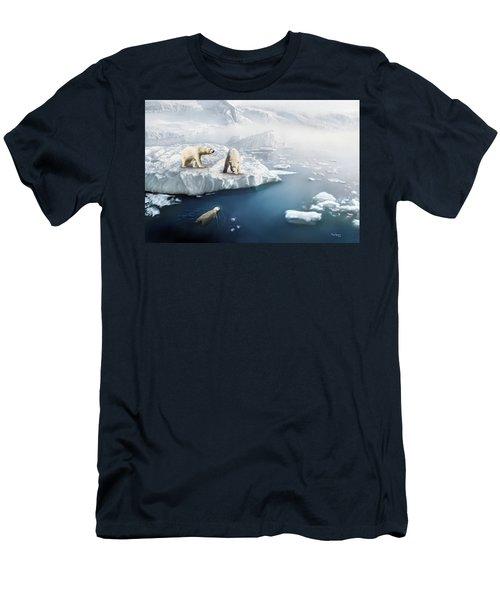 Polar Bears Men's T-Shirt (Slim Fit) by Thanh Thuy Nguyen