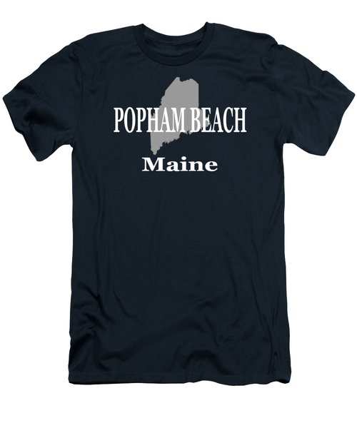 Men's T-Shirt (Slim Fit) featuring the photograph Popham Beach Maine State City And Town Pride  by Keith Webber Jr