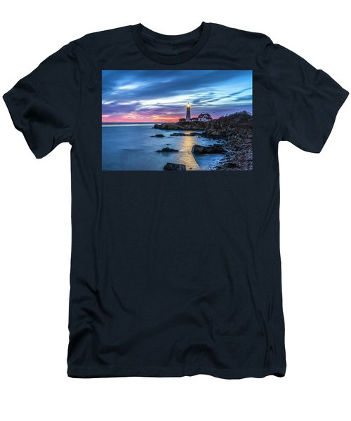 Portland Head Light Men's T-Shirt (Athletic Fit)