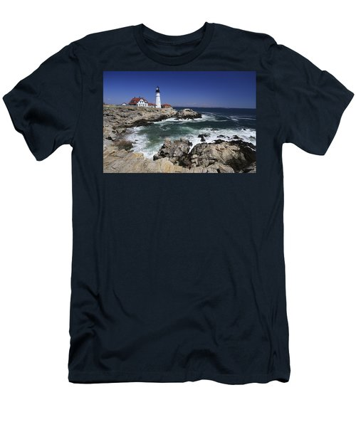 Portland Head Lighthouse, Maine, Usa Men's T-Shirt (Athletic Fit)