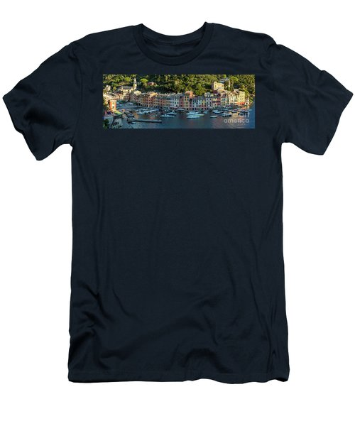Men's T-Shirt (Slim Fit) featuring the photograph Portofino Morning Panoramic II by Brian Jannsen