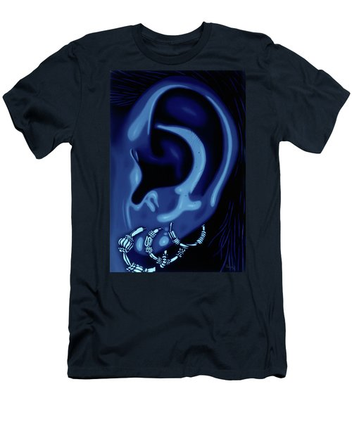 Portrait Of My Ear In Blue Men's T-Shirt (Athletic Fit)