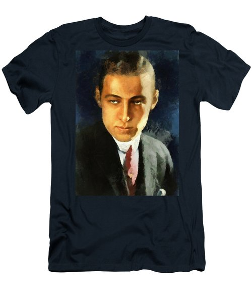 Portrait Of Rudolph Valentino Men's T-Shirt (Athletic Fit)