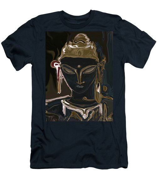 Men's T-Shirt (Slim Fit) featuring the digital art Portrait Of Vajrasattva by Rabi Khan