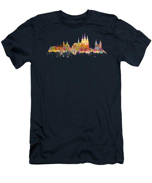 Prague Landmarks Men's T-Shirt (Athletic Fit)