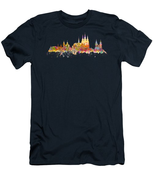 Prague Landmarks Men's T-Shirt (Athletic Fit)