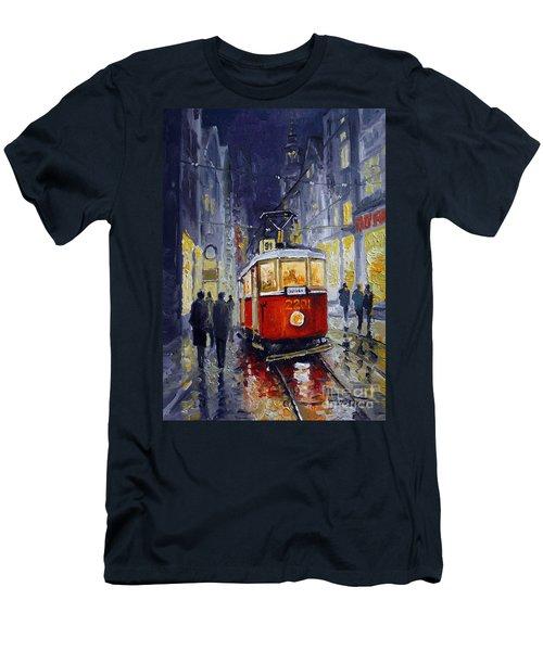 Prague Old Tram 06 Men's T-Shirt (Athletic Fit)