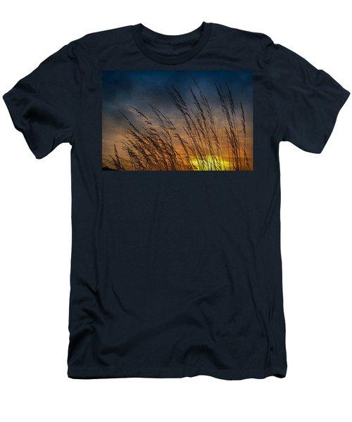 Prairie Grass Sunset Patterns Men's T-Shirt (Athletic Fit)