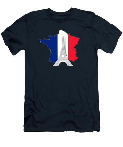 Pray For Paris Men's T-Shirt (Slim Fit) by Bedros Awak