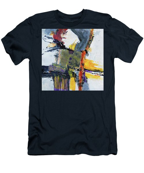 Men's T-Shirt (Slim Fit) featuring the painting Precarious by Ron Stephens