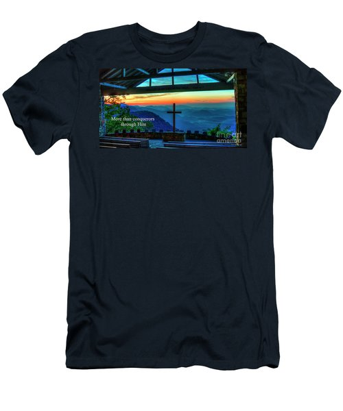 Pretty Place Chapel Through Him Art Men's T-Shirt (Athletic Fit)