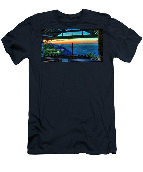 Pretty Place Chapel Through Him Art Men's T-Shirt (Athletic Fit)