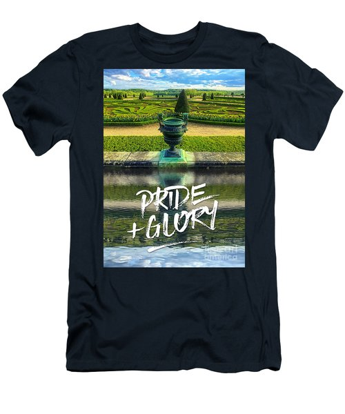 Pride Plus Glory Versailles Palace Gardens Paris France Men's T-Shirt (Athletic Fit)