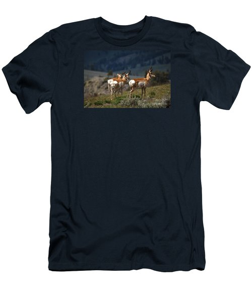 Pronghorns Men's T-Shirt (Athletic Fit)
