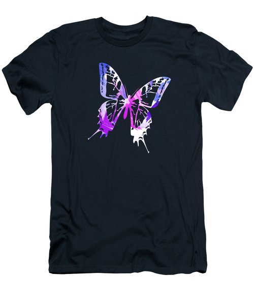 Purple Abstract Paint Pattern Men's T-Shirt (Athletic Fit)