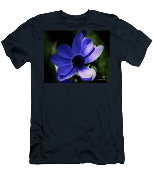 Men's T-Shirt (Slim Fit) featuring the photograph Purple Anemone by Stephen Melia