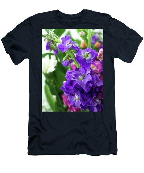 Purple Bouquet Men's T-Shirt (Athletic Fit)