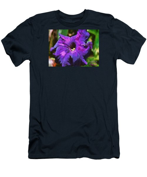 Men's T-Shirt (Slim Fit) featuring the painting Purple Color Of Royalty by Dragica  Micki Fortuna