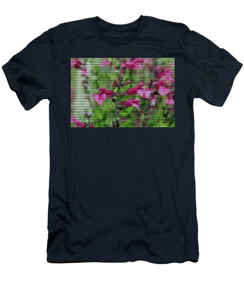 Purple Flower T-shirt Men's T-Shirt (Slim Fit) by Isam Awad