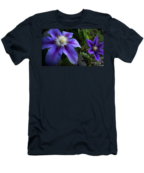 Purple Flowers Men's T-Shirt (Athletic Fit)