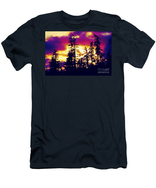 Men's T-Shirt (Slim Fit) featuring the photograph Purple Haze Forest by Nick Gustafson