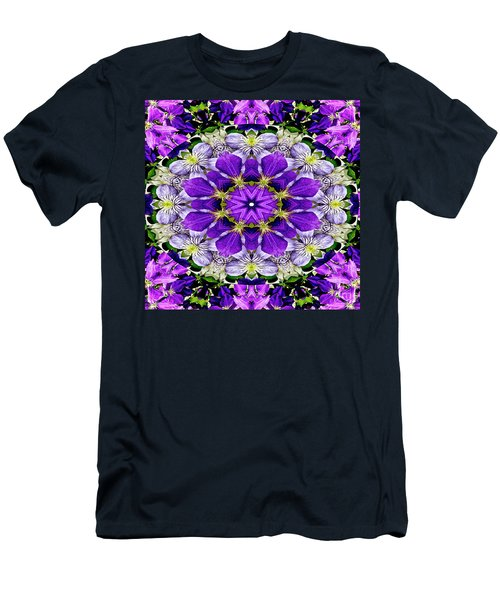 Purple Passion Floral Design Men's T-Shirt (Athletic Fit)