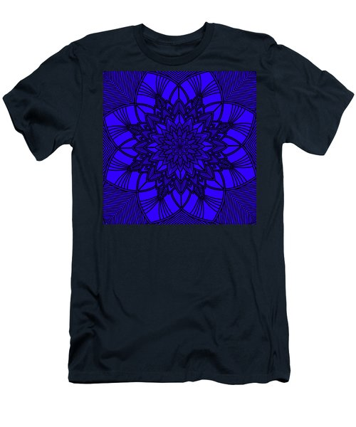 Men's T-Shirt (Athletic Fit) featuring the digital art Purple Spiritual by Lucia Sirna
