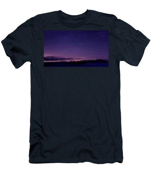 Purple Sunset Over Beach  Men's T-Shirt (Athletic Fit)