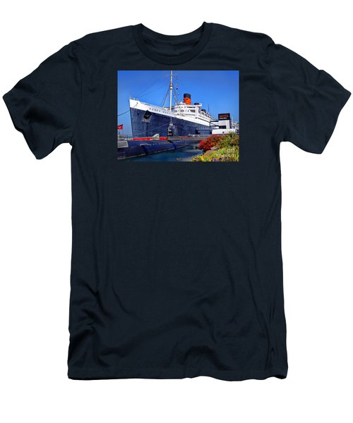 Men's T-Shirt (Slim Fit) featuring the photograph Queen Mary Ship by Mariola Bitner
