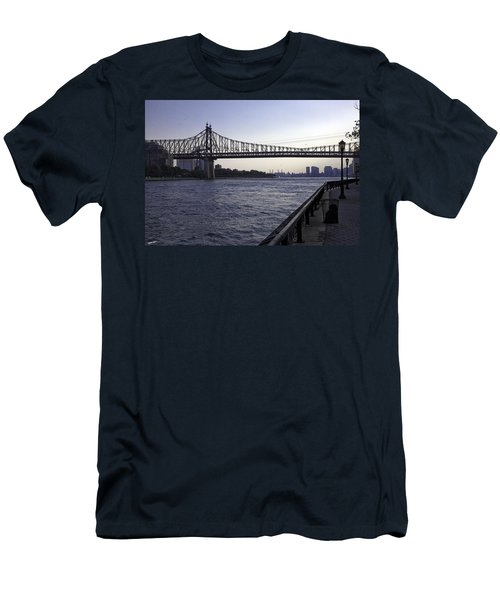 Queensboro Bridge - Manhattan Men's T-Shirt (Athletic Fit)