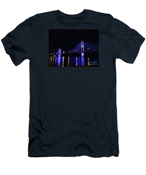 Quincy Bay View Light Reflection Men's T-Shirt (Slim Fit) by Justin Moore