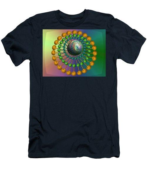 Rainbow Fractal Men's T-Shirt (Athletic Fit)